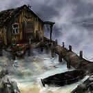 Old Fisherman's House by Anastasia Zabrodina