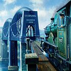 Brunel's Saltash bridge. by Mike Jeffries
