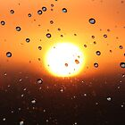 Water Droplets During Sunset by TWCreation