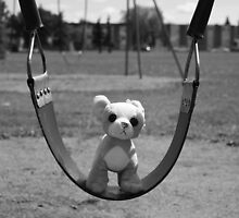 Dog on Swing by Debbi Bigsky
