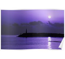 Rising sun in purple Poster
