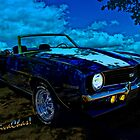 Camaro In Moonglow - a rag top on a moon-lit night to remember by ChasSinklier