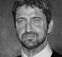 Gerard Butler drawing by John Harding