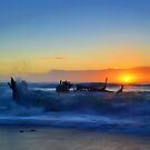 The SS Dicky at Sunrise by Fred McKie