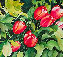 Red Tulips by olga zamora