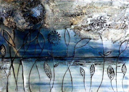 """Blue Days - Oil Painting by Belinda """"BillyLee"""" NYE (Printmaker)"""