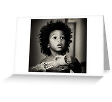 Young African American Boy Greeting Card