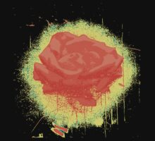 Vintage Red Rose Fine Art Tshirt by Nhan Ngo