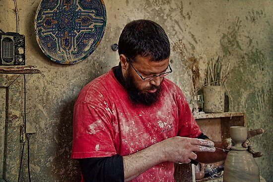 Morocco. Fes. Portrait of the pottery maker. by vadim19