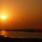 Sunset over Corniche by Blessedwalnut