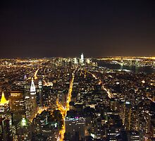 Downtown Manhattan At Night by Paul Thompson Photography