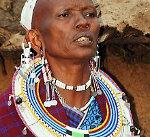 Maasai Matriach by Carole-Anne