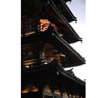 Dusk Pagoda Photographic Print