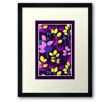Foliage Lilac & Lemon [iPhone / iPod Case and Print] Framed Print