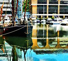 St Katharine Docks in London by PictureNZ