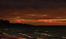Angry skies at sunset 001 by Karl David Hill