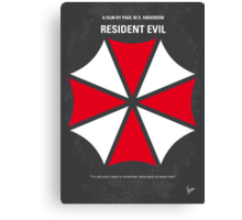 No119 My RESIDENT EVIL minimal movie poster Canvas Print