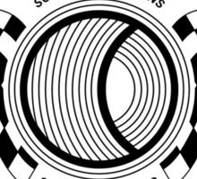 Steve McQueen Solar Productions Sports Car Racing Black Text Sticker