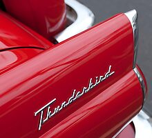 1956 Ford Thunderbird Taillight Emblem by Jill Reger
