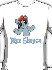 Rainbow Dash: Free Shrugs T-Shirt