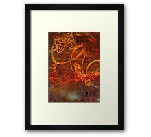 Sweet Goodbyes and Butterflies Framed Print