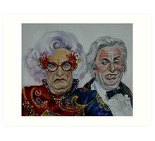 Dame Edna with Sir Les Patterson Art Print