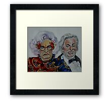 Dame Edna with Sir Les Patterson Framed Print