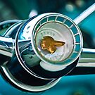 1955 Pontiac Safari Steering Wheel Emblem by Jill Reger