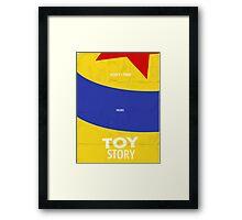 Toy Story Minimalist Movie Poster Framed Print