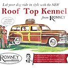 Vintage Romney Industries Roof Top Dog Kennel by colorhouse