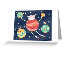 Gathering Planets Greeting Card