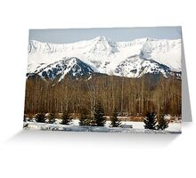 Fernie Ski Hill Greeting Card