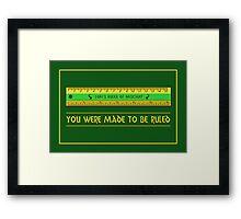 Loki's Ruler of Mischief Framed Print