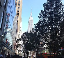 Empire State from 34th street and 7th ave by Charlotte Martin