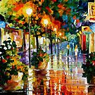 WANDER AFTER THE RAIN - OIL PAINTING BY LEONID AFREMOV by Leonid  Afremov