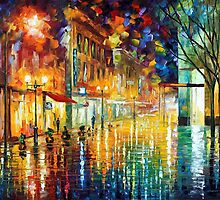SCENT OF RAIN - OIL PAINTING BY LEONID AFREMOV by Leonid  Afremov