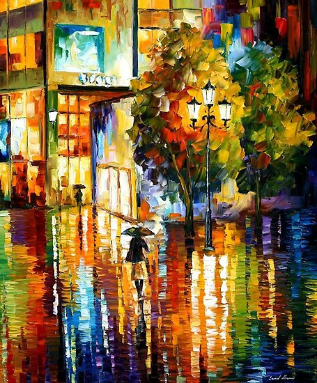 JOY REFLECTIONS - OIL PAINTING BY LEONID AFREMOV by Leonid  Afremov