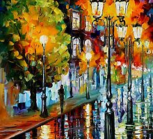 AFTER A NIGHT RAIN - OIL PAINTING BY LEONID AFREMOV by Leonid  Afremov