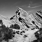 Black and white of Vasques Rocks, Aqua Dulce, Ca. by philw