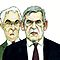 Gordon Brown and Alistair Darling caricature by GaryBarker