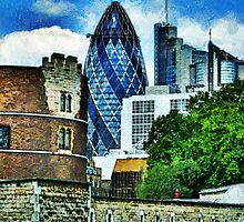 The London Gherkin  by PictureNZ