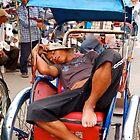 Sleeping Cyclo Man by Rob Steer