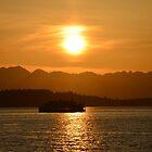 Sunset Crossing by sketchpoet