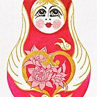 Angelic Babushka - iPhone Skin by Vikki-Rae Burns