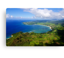 Aerial View of Hanalei Bay Canvas Print