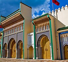 Morocco. Fes. Gates of the Royal Palace. by vadim19