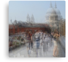 Millenium Bridge in Motion, London Canvas Print