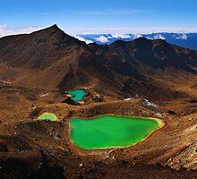 Volcanic landform - Emerald Lakes Tongariro Crossing NZ by Mark Shean