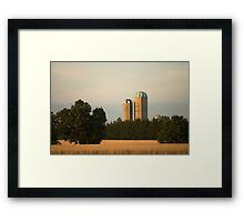 Canadian Wheat Crop and Silos Framed Print