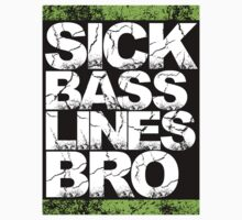 Sick Basslines Bro Sticker (neon green) by DropBass